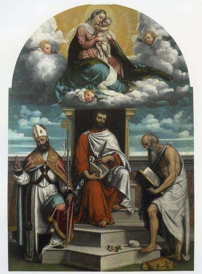 Dipinto del Moretto nella Chiesa di San Silvestro e San Michele a Calvisano